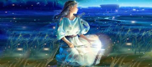 Una rappresentazione del sesto segno dell'Oroscopo, la Vergine.