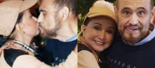 Chiquinha e Seu Barriga se beijaram e geraram clima de romance em fãs de 'Chaves'.(Reprodução;Twitter/@ForumChaves)