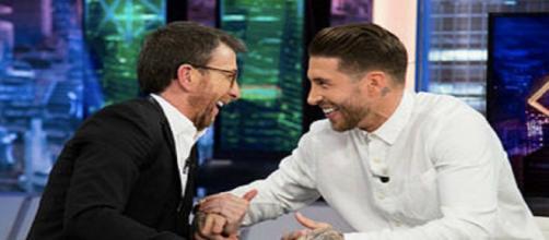 """El presentador Pablo Motos junto a Sergio Ramos en """"El Hormiguero"""