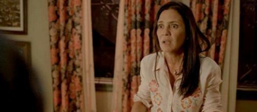 Em 'Amor de Mãe', Thelma será confrontada por Danilo e Camila. (Reprodução/TV Globo)