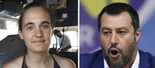 Carola Rackete e Matteo Salvini