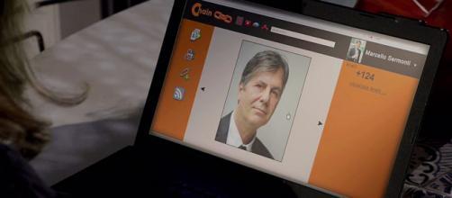 Un immagine che ritrae il presunto volto di Marcello Sermoni, l'uomo che ha contatto Giulia Poggi in Un posto al sole.