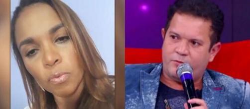 Ximbinha explica acusações feitas por cantora em programa de TV. (Fotomontagem)