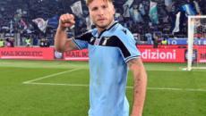Ciro Immobile con una tripletta abbatte la Sampdoria e fa volare la Lazio