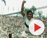 L'esultanza di Pietro Anastasi con la maglia della nazionale dopo il gol contro Haiti ai Mondiali del 1974.