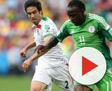 Victor Moses con la maglia della nazionale nigeriana.
