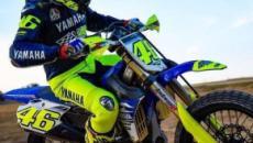 Motogp: Valentino Rossi in allenamento con la moto da cross