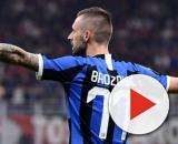 Tegola Marcelo Brozovic per l'Inter.