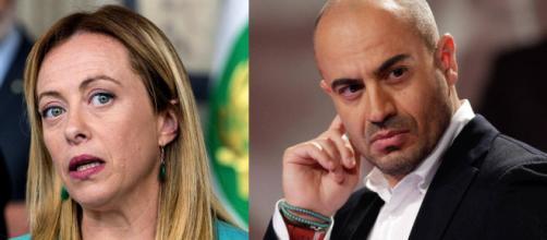 Giorgia Meloni e Gianluigi Paragone
