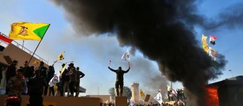 Militiamen withdraw from US Embassy but Iraq tensions remain-[ Image source - BBC/YouTube]
