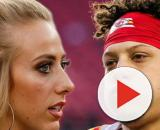Brittany Matthews has become a target because of her relationship with Patrick Mahomes [Image via The Fumble/YouTube]