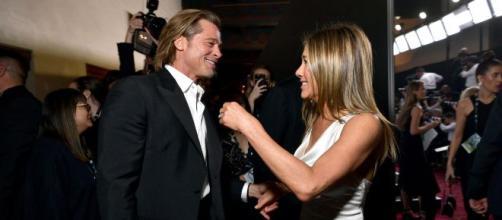 Brad Pitt y Jennifer Aniston se reencuentran. SAG Awards