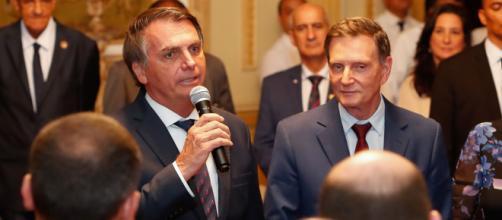 Bolsonaro e Crivella se reúnem no Rio de Janeiro. (Alan Santos | Reprodução/Flickr)