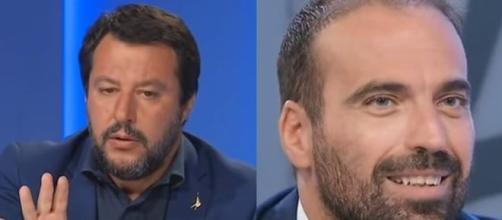 Matteo Salvini e Luigi Marattin, duro scontro a L'aria che tira.