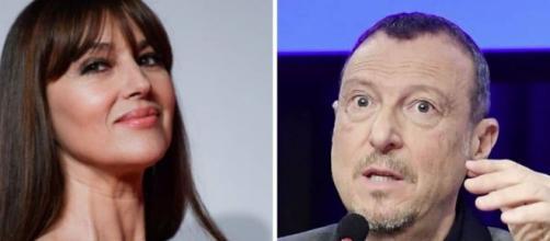 Sanremo, Monica Bellucci dà forfait, Michelle Hunziker su Amadeus: 'Parole come macigni'.