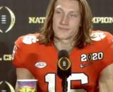 Boston Herald writer urges New England Patriots to tank Clemson Tigers' Trevor Lawrence. [Image source: ESPN College Football/YouTube]