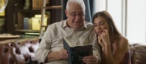 Alberto e Paloma vão conversar após morte do editor. (Reprodução/TV Globo)
