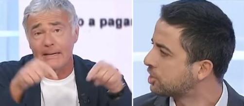 Massimo Giletti e Marco Furfaro.