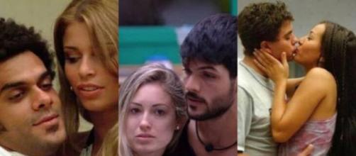 Alan e Grazi, Jéssica e Lucas, Dhomini e Sabrina: quando o affair no BBB supera relacionamentos fora da casa. (Reprodução/TV Globo)