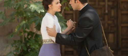 Anticipazioni puntate Una Vita: Lucia bacia Telmo, ma i due si pentono di tale gesto.