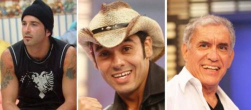 Buba, André e Nonô participaram de edições diferentes. (Fotomontagem/Reprodução/TV Globo)