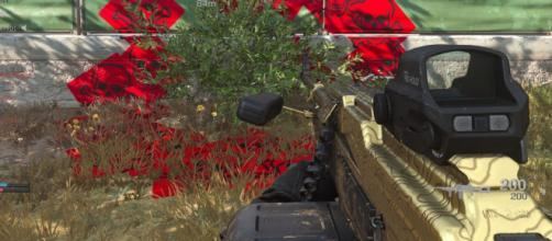'Call of Duty' players are being killed by a bush. [Image Source: in-game screenshot]