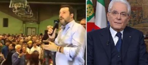 Matteo Salvini e Sergio Mattarella
