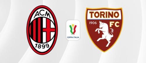 Milan-Torino si affrontano ai quarti di finale della Coppa Italia