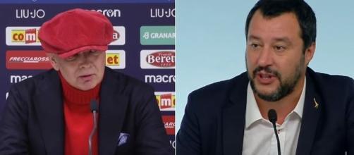 Sinisa MIhajlovic e Matteo Salvini,