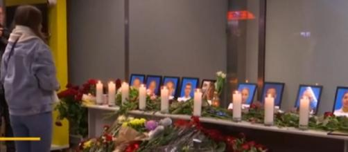 Ukraine Airlines holds vigil for lost lives after Iran plane crash. [Image source/CNBC Television YouTube video]