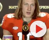 LSU fans mock Trevor Lawrence, he admits to getting nervous before big games. [Image source/ ESPN Collage Football/Youtube screenshot]