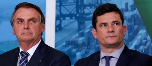 Bolsonaro admite tirar poder de Moro e recriar Ministério da Segurança Pública. (Arquivo Blasting News)