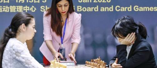 Iranian chess referee Shohreh Bayat remains scared to return home (Photo credit: BBC/You /Tube)