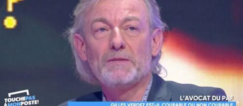 TPMP : Gilles Verdez en pleurs face au souvenir du drame du stade de Furiani. Credit: Capture/C8