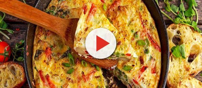 Receita prática de omelete de legumes