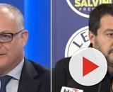 Il Ministro dell'Economia Roberto Gualtieri e Matteo Salvini.