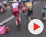 La caduta che ha coinvolto anche Manuele Boaro al Tour Down Under