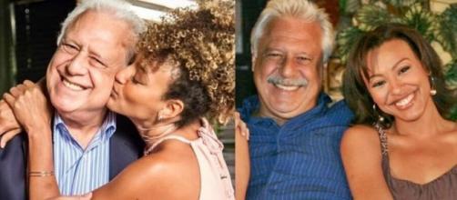 Antonio Fagundes e Sheron Menezzes viveram Alberto e Gisele, respectivamente, em 'Bom Sucesso'. (Reprodução/Fotomontagem)