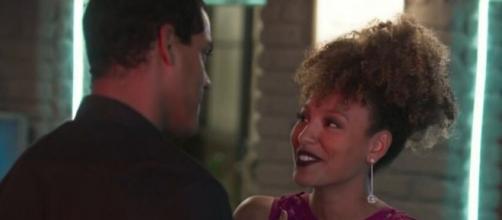 Gisele (Sheron Menezzes) ficará com Yuri (Marcello Melo Jr.) no capítulo final de Bom Sucesso. Reprodução/TV Globo