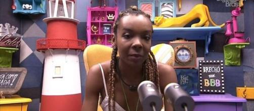 Thelma no confessionário do 'BBB20'. (Reprodução/TV Globo)