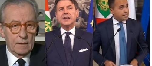 Vittorio Feltri, Giuseppe Conte e Luigi DI Maio.