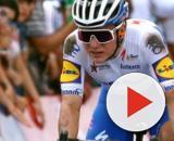 Remco Evenepoel al traguardo della prima tappa della Vuelta San Juan.