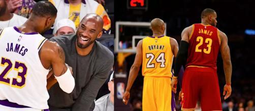 Kobe Bryant e LeBron James, leggende del basket, rivali ed amici.