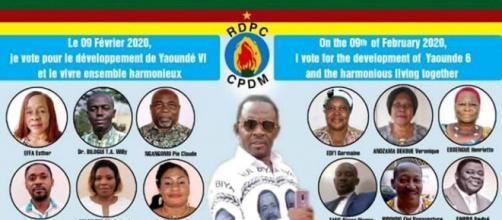 La liste de la Commune d'Arondissement de Yaoundé 6 (du RDPC) (c) Yaoundé 6
