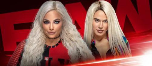Liv Morgan e Lana se enfrentam no Raw. (Divulgação/WWE)