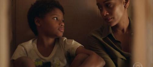 """A cena na novela """"Amor de Mãe"""" deixou muitas pessoas comovidas, como Tais Araújo. (Reprodução/Rede Globo)"""