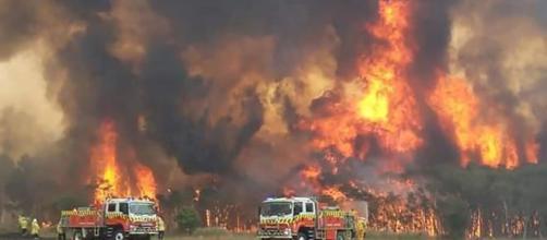 Australia bushfire 'came through like a cyclone.'[Image source/Sky News YouTube video]