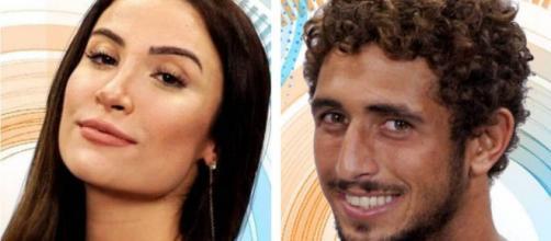 Bianca e Chumbo estão no primeiro paredão do 'BBB20'. (Divulgação/Globo)
