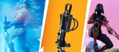 "Most overpowered weapons in ""Fortnite Battle Royale"" history. [Image Credit: Own work - combined in-game screenshots into one image]"