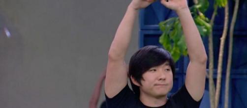 Pyong vence prova Bate e Volta e está fora do paredão Imagem: Reprodução/TV Globo
